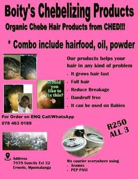Organic hair and skin Products