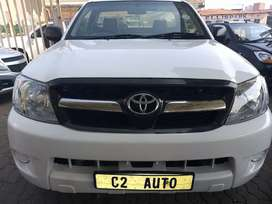 2007 White Toyota Hilux 2.5 D-4D Single Cab