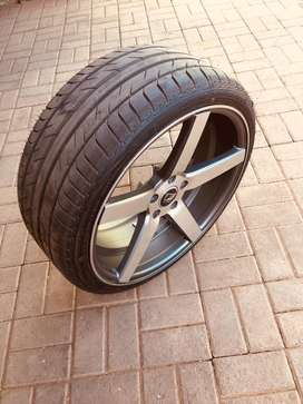 "Set of A-Line 20"" 9.5J rims with tyres for sale"