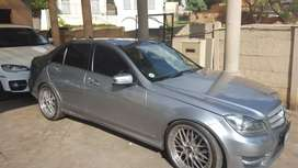 Mercedes C300 AMG with panoramic sunroof mags and new tyres