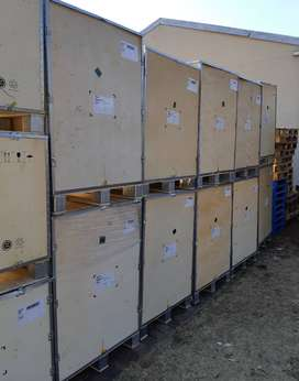 Crated Pallets Plywood and Aluminium for UNCLUTTERING DECLUTTERING