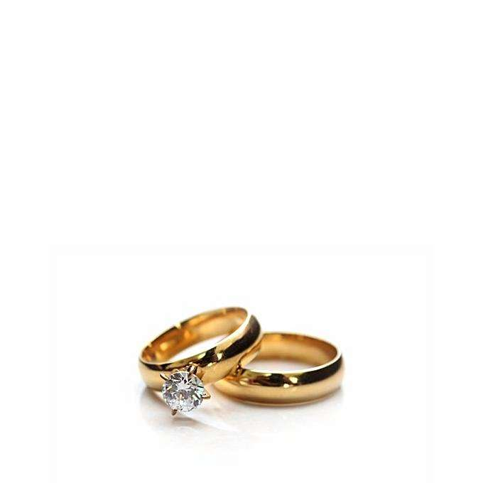 fashion simple wedding ring set 0