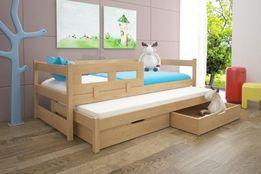 Hit! Dwuosobowe łóżko drewniane Alan z szufladami oraz materacami!