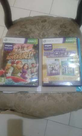 3 New Xbox360 kinect(1Adventures and sport ultimate collection2 Games)