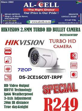 HIKVISION DS2CE16COTIRP 2.8MM TURBO HD BULLET CAMERA