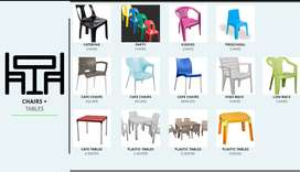 Plastic Steel Catering Chairs Tables Kiddies Stools