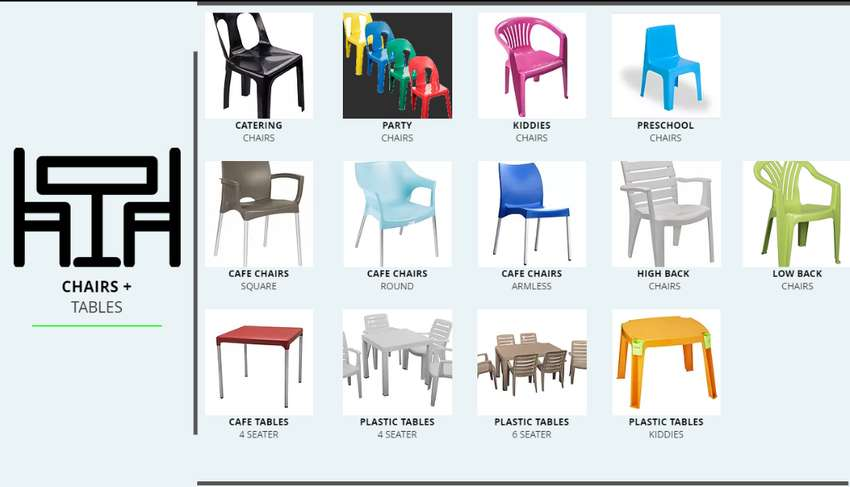 Plastic Steel Catering Chairs Tables Kiddies Stools 0