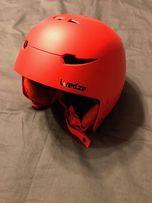 Kask narciarski i snowboardowy Stream 500 Wedze rozmiar 48-52 czerwony