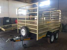 3M DOUBLE AXLE CATTLE TRAILER FOR SALE