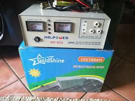 Solar battery and boxes