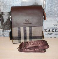 Skorzana męska torba Listonoszka Burberry , skóra, Włochy 8022