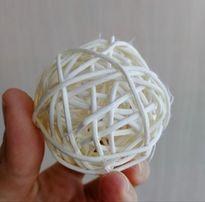 шарики ротанговые для декора