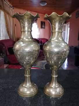 Brass vases 40cm in height