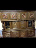 Огромный антикварный бретон буфет библиотека шкаф комод креденс