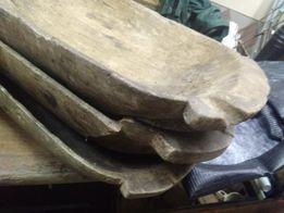Dłubanki koryta ręcznie robione 100 letnie cena za 3 szt.