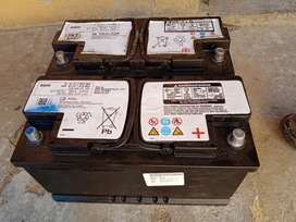 Used Mercedes-Benz and BMW 90Ah, 80Ah and 70Ah batteries for sale.