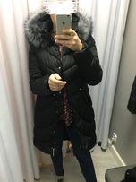 kurtka zimowa kaptur futerko 40 L