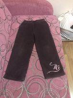 Штаны (брюки) вельветовые на флисе осенние
