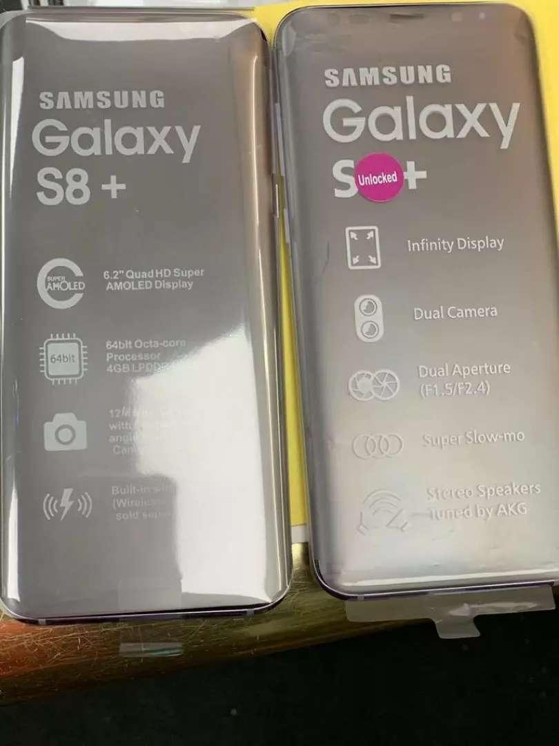 Samsung Galaxy S8+ 64gig fresh in box 0