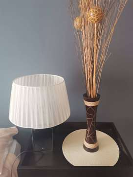 Side lamps / vases with decor plant sticks