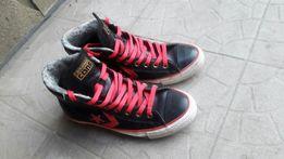 Ботинки кеды Converse All Star оригинал кожаные высокие р. 40, 25.5 см