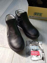 Кожанные ботинки на мальчика Италья (новые в коробке) размер 30
