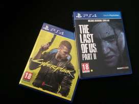 PS4 games - The Last of Us 2 and CyberPunk