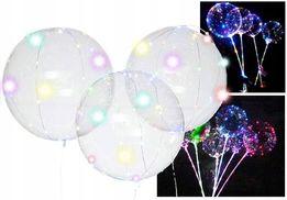 Świecący Balon LED Na Rurce Baterie Kolorowe Diody