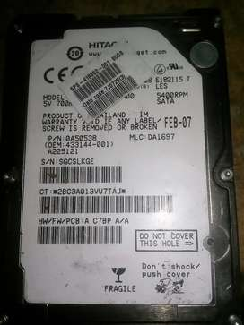 500gb Hitachi laptop hard drive