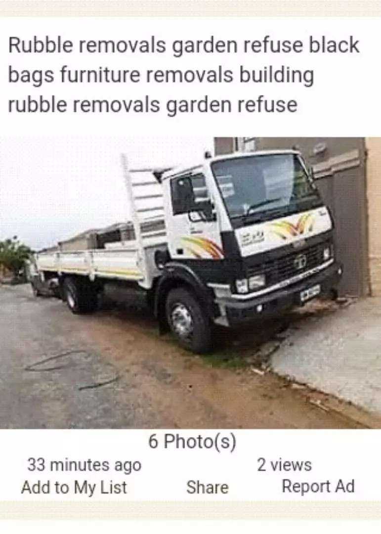 Rubble Removals Furniture Removals garden refuse tree faling 0