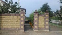 Декоративные Заборные блоки под рваный камень односторонние