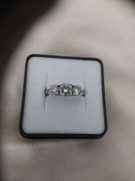 CZ Silver Ring