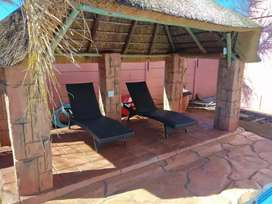Thatching, Swimming pools and Braai areas