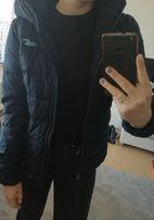 Granatowa pikowana kurtka hollister j. Tommy calvin ralph zara adidas