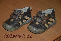 Buciki, buty chłopięce skórkowe wiosenne rozmiar 22