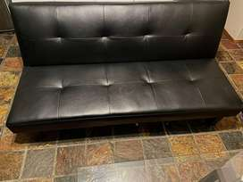 Allan leather sleeper couch