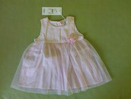 NOWA! Sukienka różowa może być do chrztu rozmiar 62