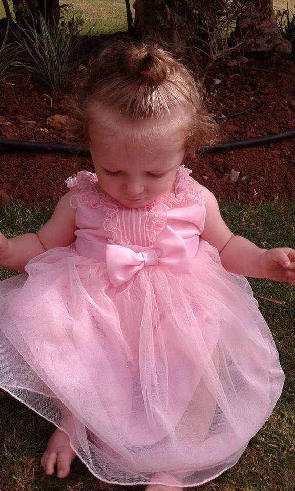 Pink Mommy and Daughter Dresses 0