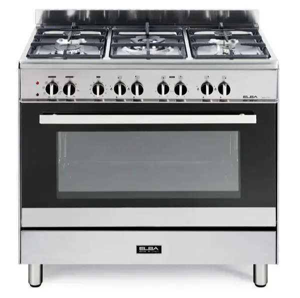 Elba Silver Classic 5 Burner Gas/Electric Stove - 01/9CX827N 0