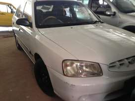2001 Hyundai accent sedan, 1.3 engine capacity, 4 doors, radio, white