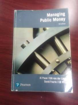 Managing Public money tertiary Textbook for Sale