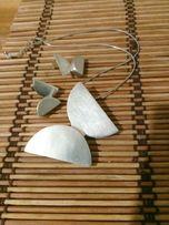 серебро кулон и серьги комплект