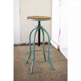 Industrial style metal bar stools specials.