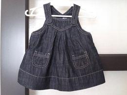 ZARA sukieneczka jeans ciemny granat 68 ogrodniczka sukienka j .nowa