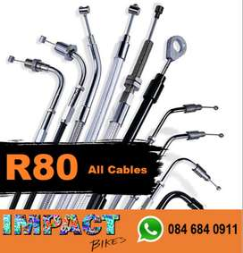 Cables brake clutch accelerator all R80