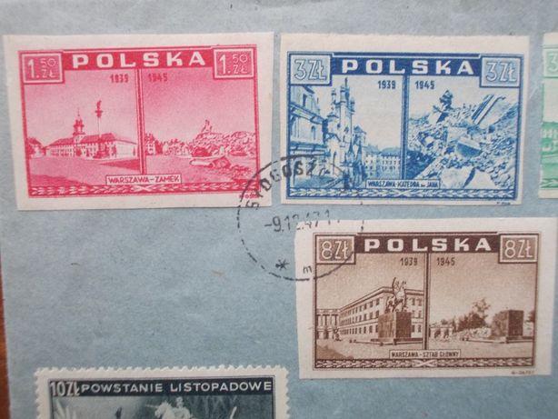 Koperta, tzw. R-ka, z wieloma cennymi znaczkami z 1945 i 1947 roku. Bydgoszcz - image 2
