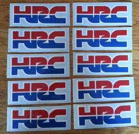 Pair of Honda HRC stickers
