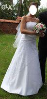 Cudna suknia ślubna - biała, roz. 38, litera A, stan idealny + gratisy
