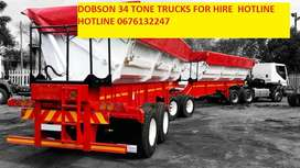 DOBSON 34 TONE TRUCKS FOR HIRE