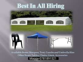 Marquee/tent hire